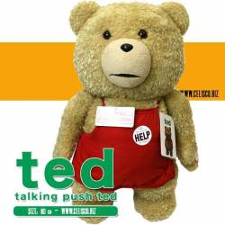Ted Talking Plush Figure Ted in Apron 60 cm