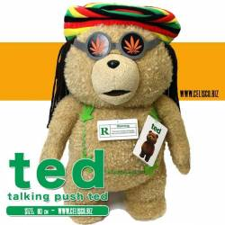 Ted Talking Plush Figure Ted in Rasta Outfit 60 cm