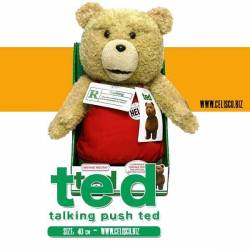 Ted in Apron Talking Plush Figure with Moving Mouth 40 cm