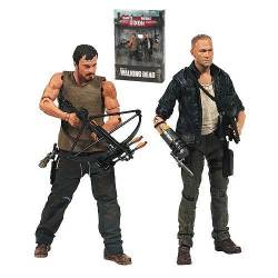 Walking Dead TV Merle and Daryl Dixon Action Figure 2-Pack 12 cm