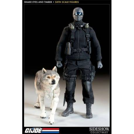 Sideshow Toys GI Joe: Snake Eyes and Timber Sixth Scale Figure Set