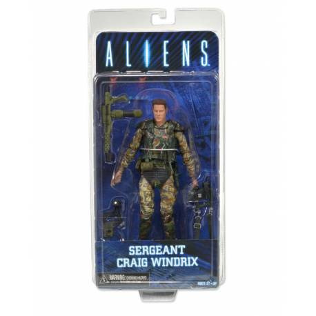 """NECA Aliens - 7"""" Action Figure - Series 2 Sgt. Windrix"""