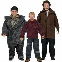 NECA Home Alone Set of all 3 Retro Action Figures [Kevin, Harry & Marv]