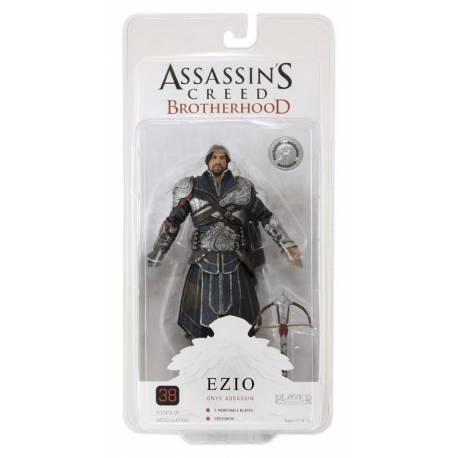 Assassins Creed Brotherhood Action Figure Ezio Onyx Costume Unhooded Exclusive 18 cm