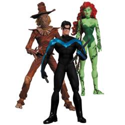 Batman Hush Action Figure Box Set Scarecrow, Nightwing & Poison Ivy 17 cm