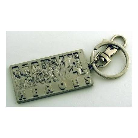 Marvel Heroes Pewter Key Ring