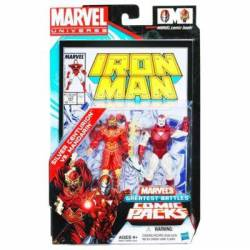 MARVEL UNIVERSE MARVEL'S GREATEST BATTLES COMIC PACKS SILVER CENTURION VS. MANDARIN