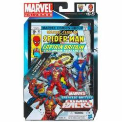 MARVEL Universe MARVEL'S Greatest Battles Comic Packs SPIDER-MAN & CAPTAIN BRITAIN Pack