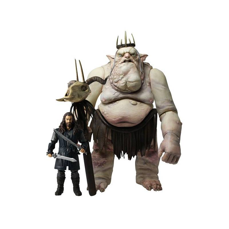 The Hobbit An Unexpected Journey Goblin King with Thorin Oakenshield AF 2 Pack